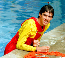 lifeguard instructor in anorak